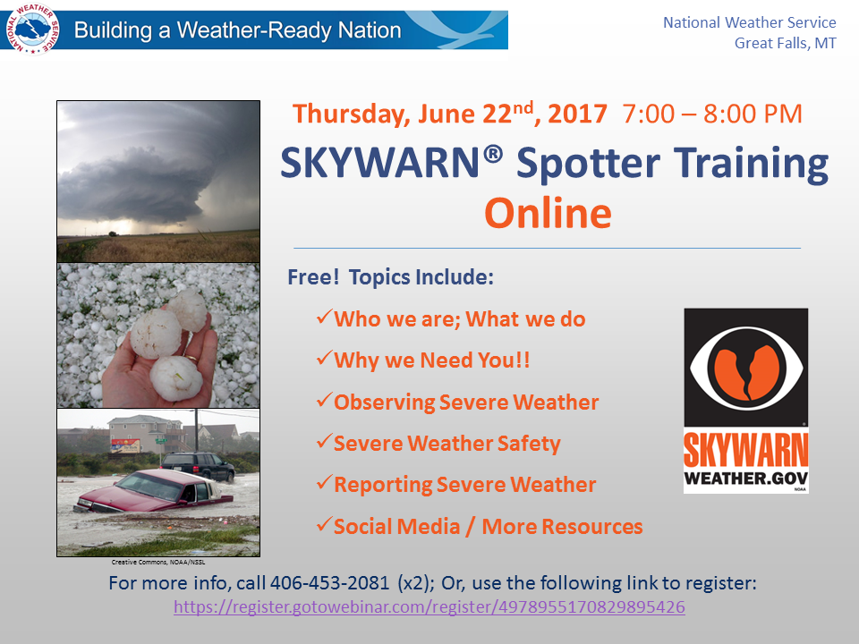 SKYWARN Spotter Training – Online