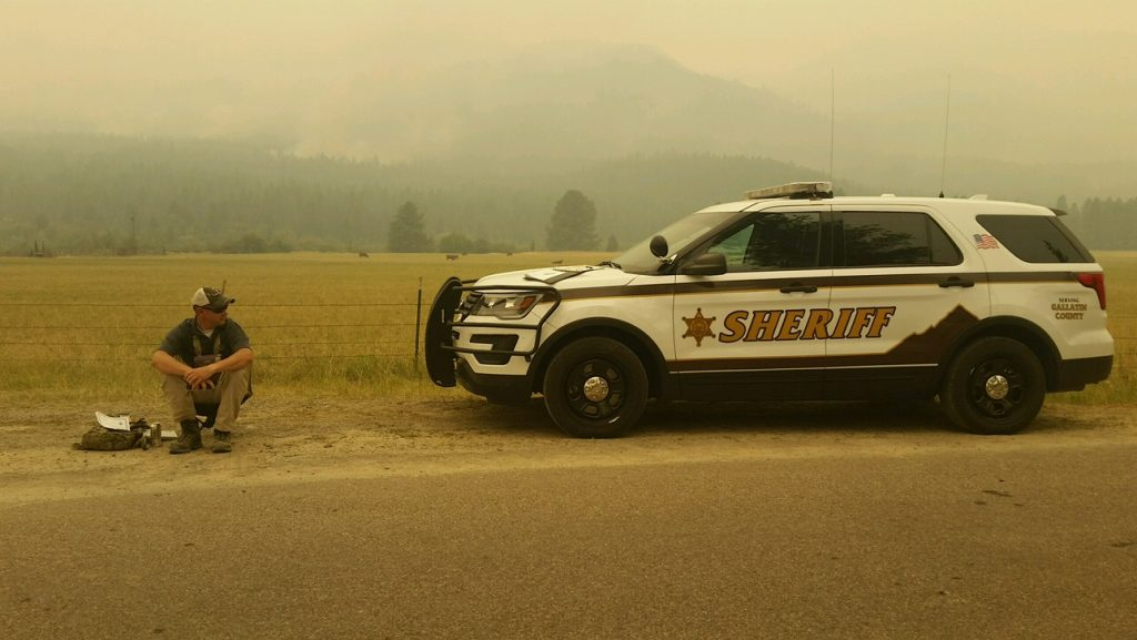 Responders from Gallatin County Supporting Large Fire Response