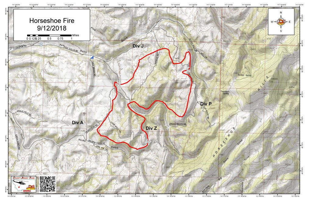 Horseshoe Fire Map 9/12/18