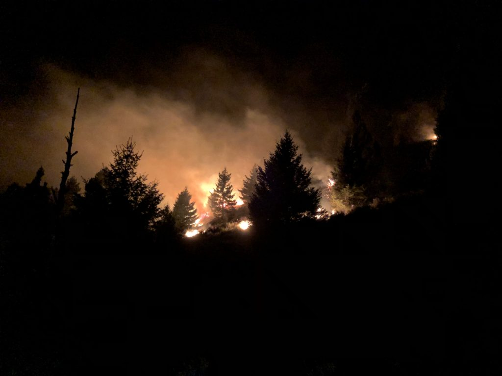 Horseshoe Fire Update 7:00 PM 9/13/18